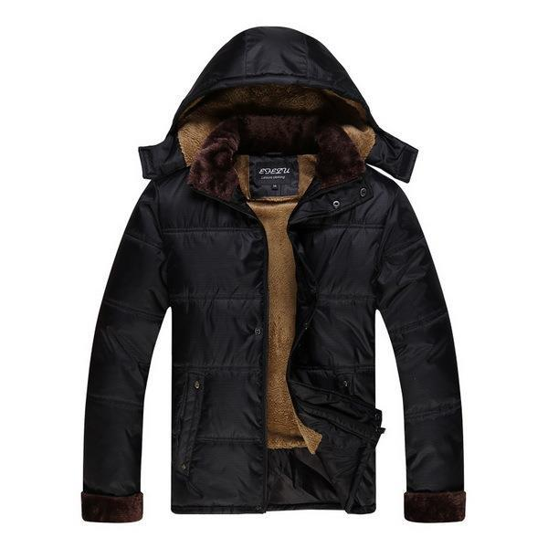 ФОТО Super Warm Men Winter Thick Coats With Hat Plus Size M-3XL Natural Color Down Jackets Man Chaquetas Hombre 2016