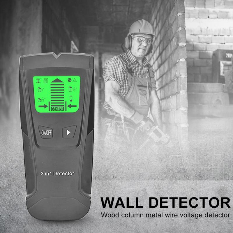 Image 5 - 3 In 1 Metal Detector Find Metal Wood Studs AC Voltage Live Wire Detect Wall Scanner Electric Box Finder Wall Detector-in Industrial Metal Detectors from Tools