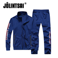 Jolintsai Letter Sportwear Suit Men 2017 Plus Size 4XL Sudaderas Hombre Casual Tracksuit Men Moleton Masculino Sweatshirt Men
