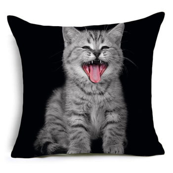 High Quality Trippy Cat Printed Pillow Cover