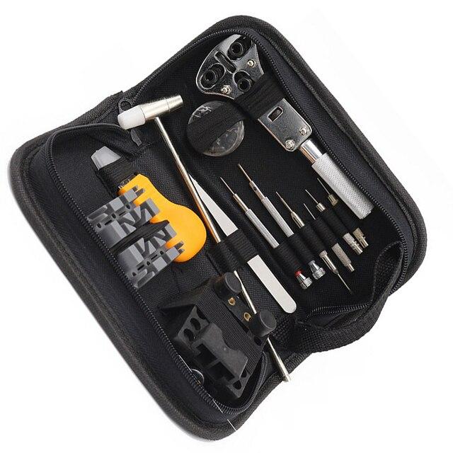 Смотреть Repair Tool 13 шт./лот Kit Набор Часы Корпуса батареи Открывалка Ссылка Пен Remover Отвертки Пинцет Часовщик, Посвященный