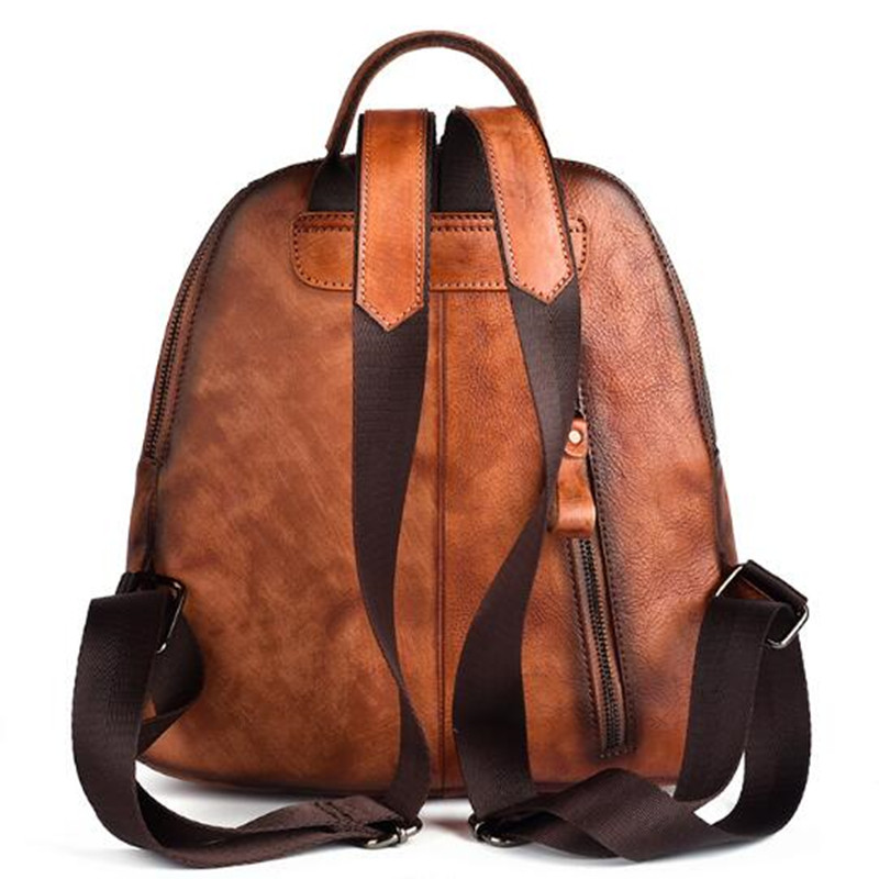 Купить женский винтажный кожаный рюкзак школьные ранцы дорожная сумка
