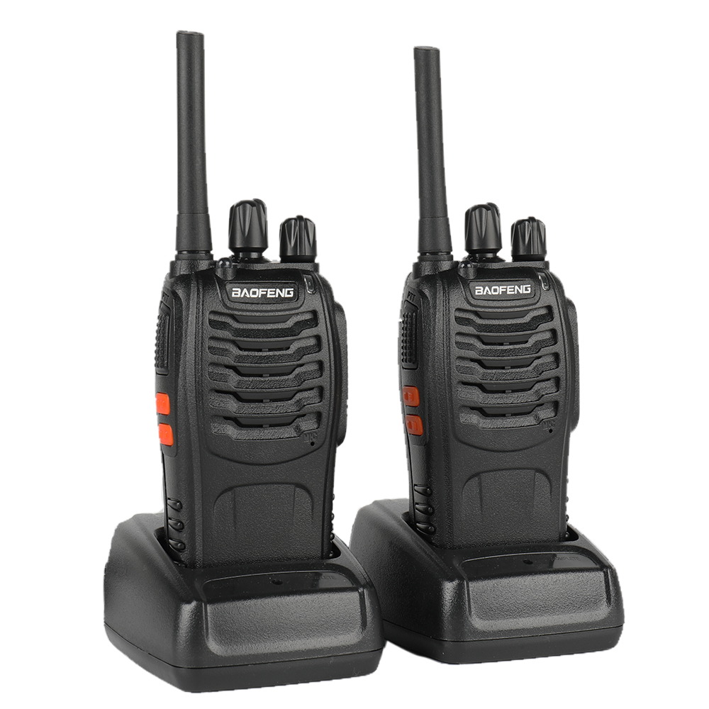 2 PCS Baofeng BF-88E PMR Updated Version of 888S Walkie Talkie with USB Charger UHF 446 MHz 0.5 W 16 CH Handheld Ham