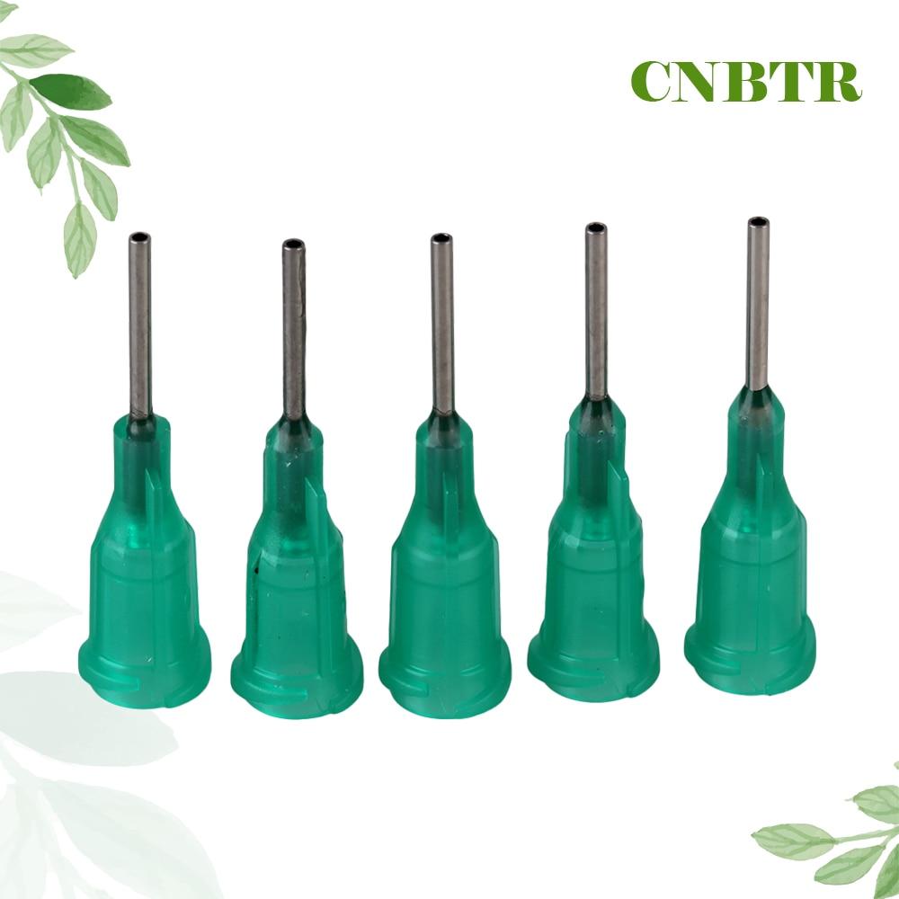 CNBTR 100pcs Green 1/2 Glue Liquid Dispenser Dispensing Blunt Needle Tips 18 Gauge 6 x stainless steel 2 05mm od 12ga glue liquid dispenser needles tips