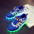 25-37 Tamaño/Cesta de Carga USB Led Niños Zapatos Con Luz Up Kids Boys & Girls Casual Luminoso zapatillas de deporte De Zapatos Brillantes enfant