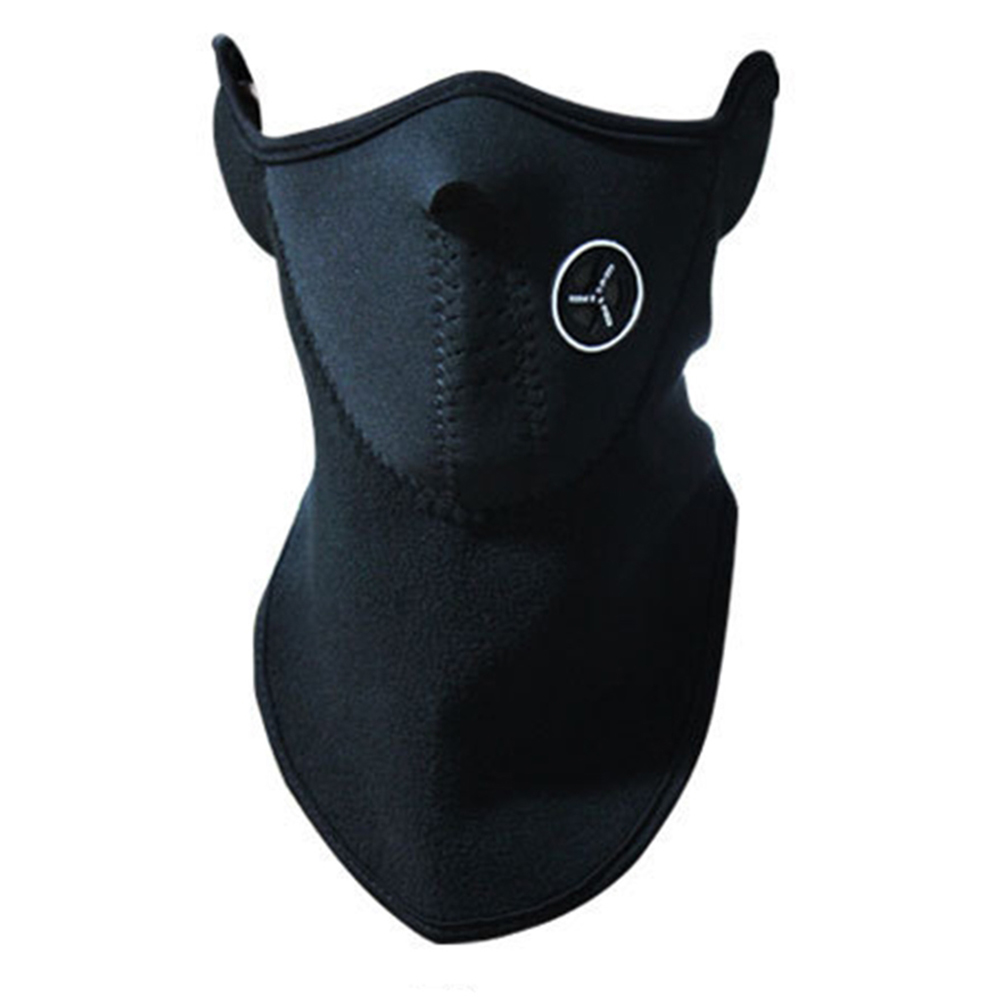Airsoft Warm Fleece Bike Half Face Mask Cover Face Hood Prot