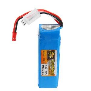 Image 4 - ZOP Power 7,4 V 3000mah 10C Lipo batería recargable para Frsky Taranis X9D Plus transmisor control remoto piezas de repuesto
