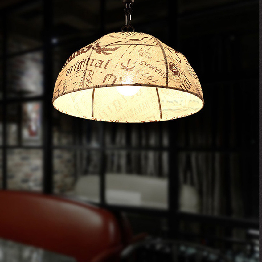 Industrial Rope Pendant Lights Vintage Pendant Lamp Edison Retro Hanging Lampshade Lighting Restaurant/Parlor Loft Light fixture new loft vintage iron pendant light industrial lighting glass guard design bar cafe restaurant cage pendant lamp hanging lights