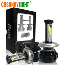 CNSUNNYLIGHT Super Bright Car LED Headlight Kit H4 H13 9007 Hi/Lo H7 H11 9005 9006 w/ XHP50 Chips Replacement Bulbs 6000K Lights(China)