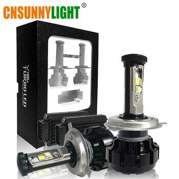 Cnsunnylight супер яркий автомобиль светодио дный фар комплект H4 H13 9007 Здравствуйте/Lo H7 H11 9005 9006 Вт/XHP50 C Здравствуйте ps замена лампы 3000 К 4300 К