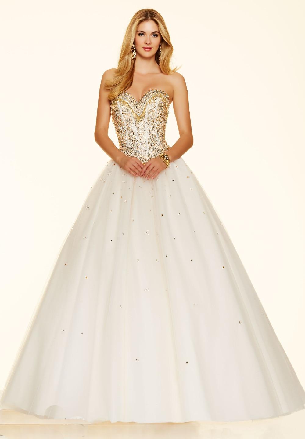 Popular White Gold Prom Dress-Buy Cheap White Gold Prom ...