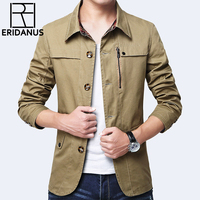 Jacket Men Fashion Coat Hot Sell Casual Cotton Fashion Brand Washed Jacket Stand Collar Slim Fit