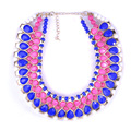 2014 Spring Big resin Fashion Bijoux Collier Necklaces Statement Colares Necklaces & pendants conjunto schmuck bijuterias Gift