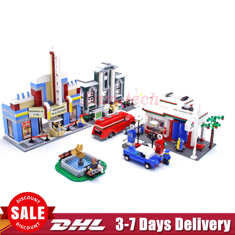 2018 In Stock Clone 10184 Lepin 02022 2080pcs City 50th Anniversary Town Building Blocks Bricks educational Toys children Gifts waz compatible legoe city lepin 2017 02022 1080pcs city 50th anniversary town figure building blocks bricks toys for children
