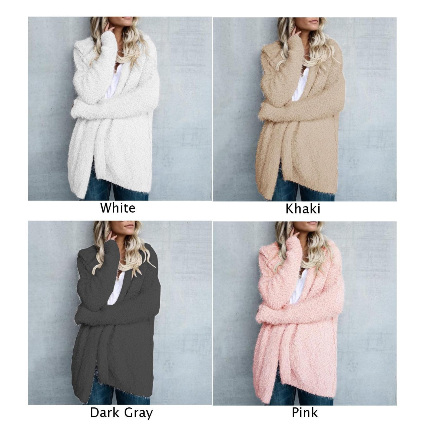 2019 Cardigan Autumn Women Coat Loose Knitted Long Sleeve Ladies Outwear Hoodie Winter in Jackets from Women 39 s Clothing