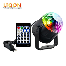 [LTOON]3W Mini 15 colors Crystal Magic Ball Sound Activated Disco Stage Lamp Lumiere Christmas Laser Projector Dj Club