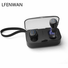 TI8S invisible Bluetooth headset 5.0 short wireless stereo bass charger