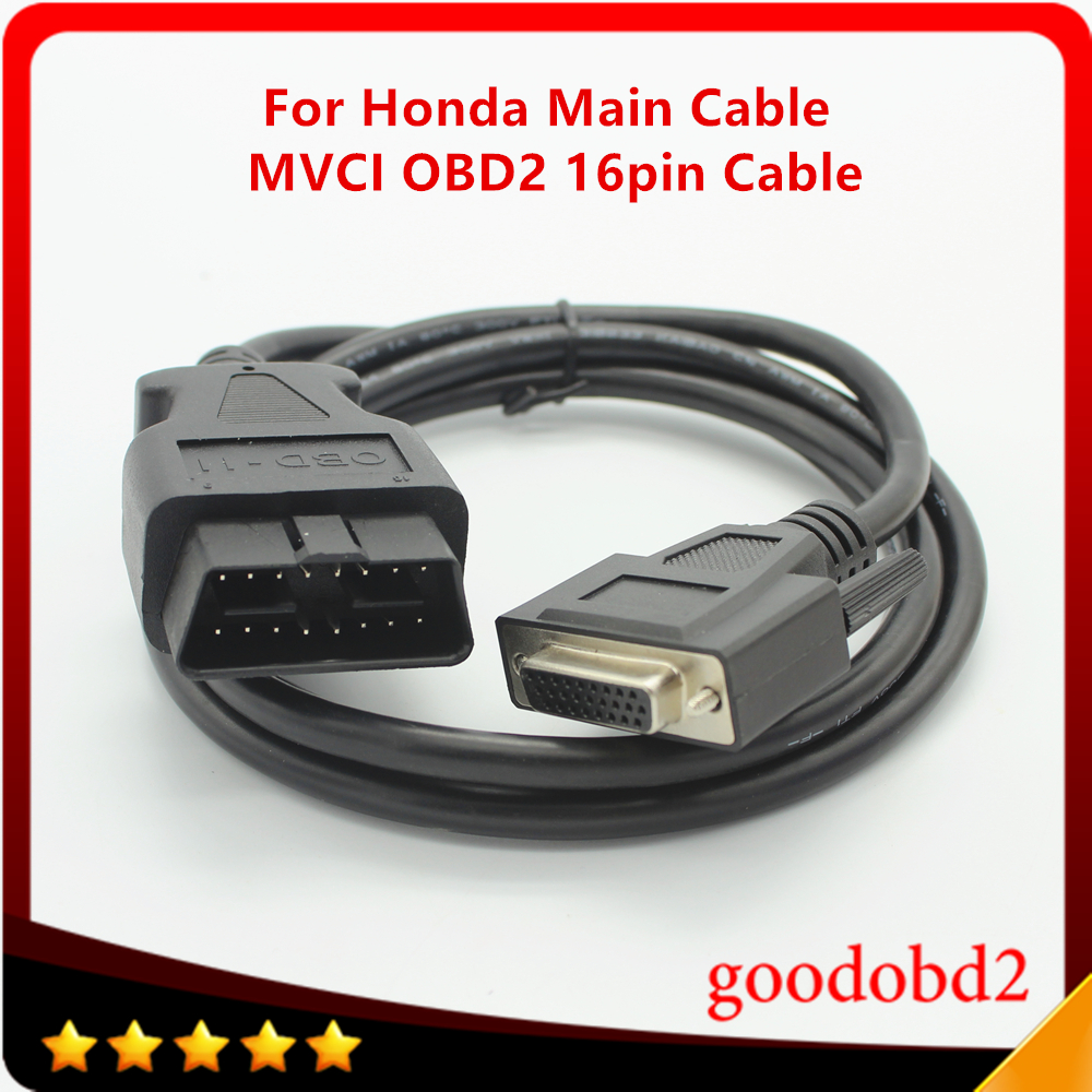 Diagnostic Tools Car Cables OBDII 16 pin J1962m Male to DB26 Cable obd2 16pin MVCI Scanner Tool Connector for Honda Test Cable|car cable|cable obd2|obd2 16pin - title=