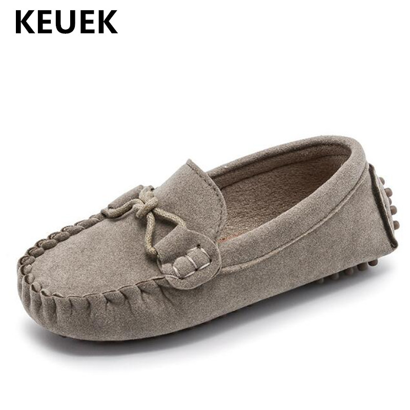 New British Style Leather Shoes Children Loafers Baby Shoes Toddler Flats Comfortable Casual Dress Shoes Boys Girls Kids 019