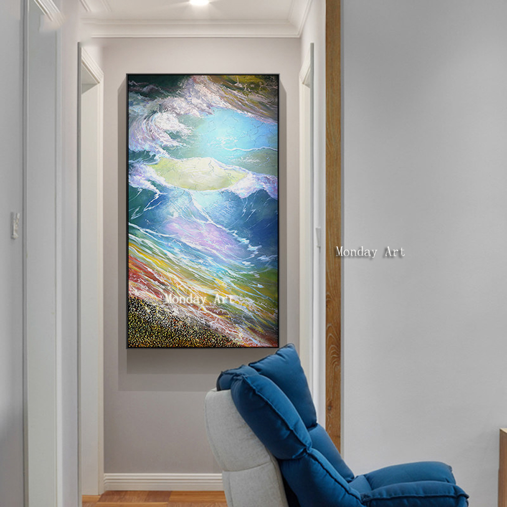 Landscape Oil Paintings For Painting Canvas Beautiful Seaview Poster Home Decoration Art HandPainted Modular Picture
