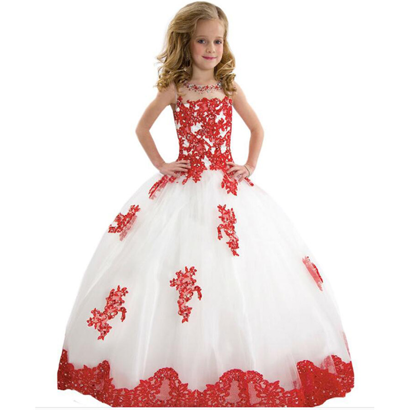2018 New High quality girl princess dress Lace flower belt  Big swing ball gown kids party  dresses for girls clothing2018 New High quality girl princess dress Lace flower belt  Big swing ball gown kids party  dresses for girls clothing