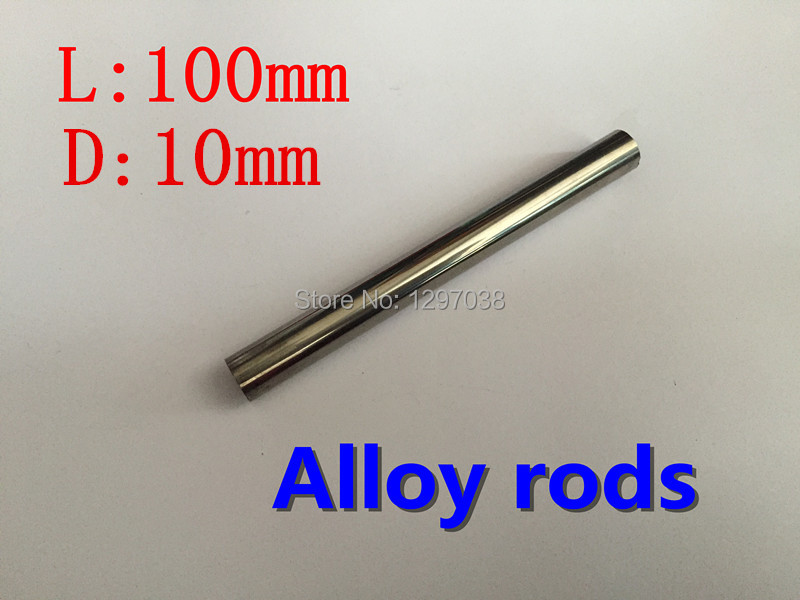 2pcs/lot 10mm diameter x 100mm length tungsten steel circular rod Suitable for stamping tungsten cycle phenotype side length of the cube weighs about 19 16g 10mm w 99 95%