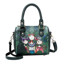 2019 Forest Design Woman Bag Set Fashion Female Purse and clutch Pu leather Handbag Shoulder Bag Tote Messenger cross body bag fashion women s clutch bag with pu leather and crocodile print design