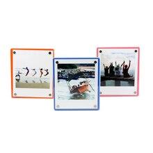 Alta Qualidade Bonito Acrílico Colorido Geladeira Magnética Decoração de Casa Photo Frame para Fuji Instax Filmes SQ10 SP3