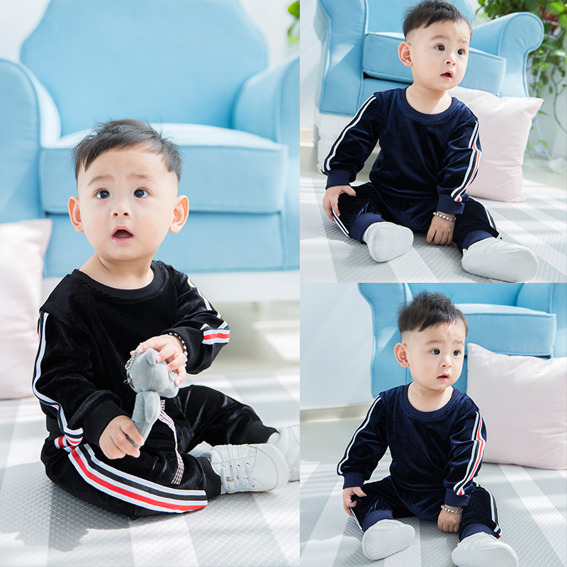 2016 Autumn Baby Boy Clothing Sets Newborn Baby Boy Girl Long Pants and Striped T-shirt Top Sport Outfits Set Costume autumn newborn baby clothes 2017 fashion striped clothing set for toddler boy girl long sleeve top pants cap 3pcs outfits ff214