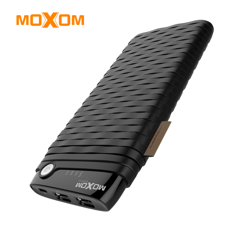 MOXOM <font><b>Power</b></font> <font><b>Bank</b></font> 10000mAh Portable Charging Powerbank <font><b>10000</b></font> Slim Poverbank External Battery For Xiaomi Mi9 iPhone Free USB Cable image