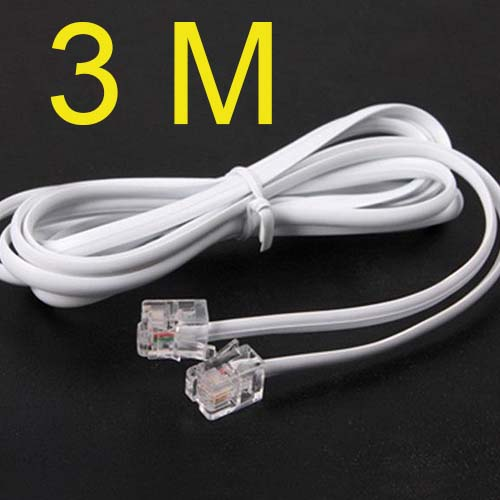 High Speed 3m 10ft RJ11 Telephone Phone ADSL Modem Line Cord Cable new ...