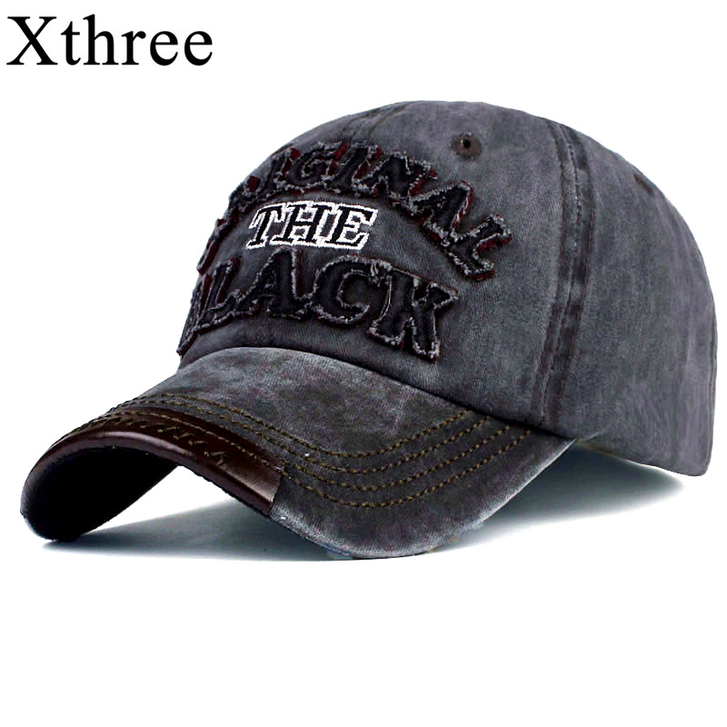 Xthree hot retro baseball passte kappe kappe hysteresenhut für männer frauen gorras casual casquette Brief stickerei schwarze kappe
