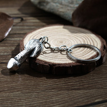 Retro exaggerated male genital key chain fun penis wedding gift party decoration ring