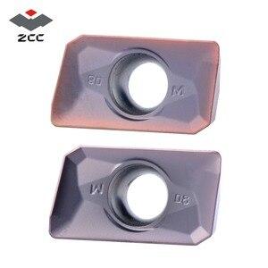Image 1 - 10 قطعة 50 قطعة 100 قطعة ZCC.CT مخرطة طحن إدراج APMT 1135 APMT1604 كربيد إدراج APMT1135 ل آلات تقطيع EMP05 أدوات تعدين