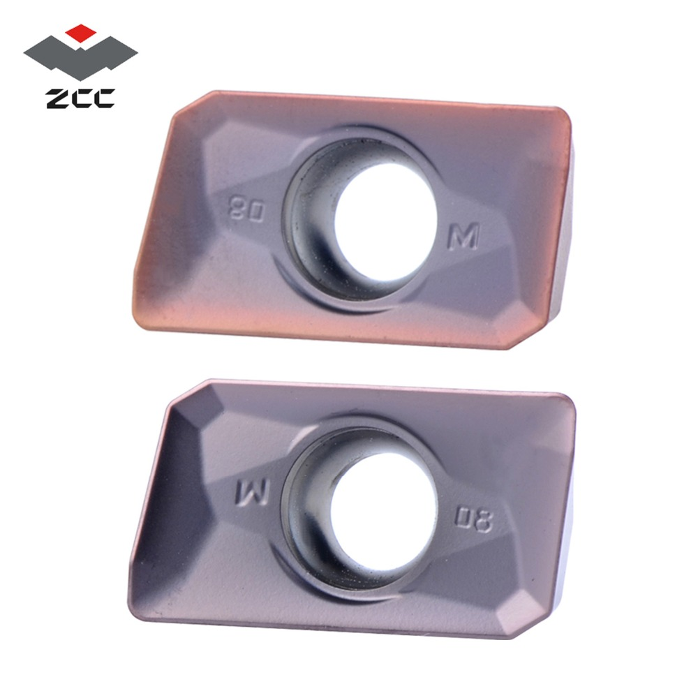 10pcs/lot ZCC.CT Lathe Milling Inserts APMT 1135 APMT1604 Carbide Insert APMT1135 For Milling Cutters EMP05 Milling Tools