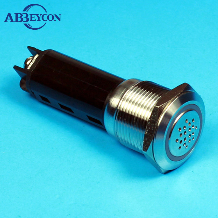 5pcs/Lot IB 19116 19mm metal DC12V/DC24V AC 110V/AC220V flat round waterproof buzzer 5pcs lot d10 0mmx30mmx100mm 2 flutes flat 100