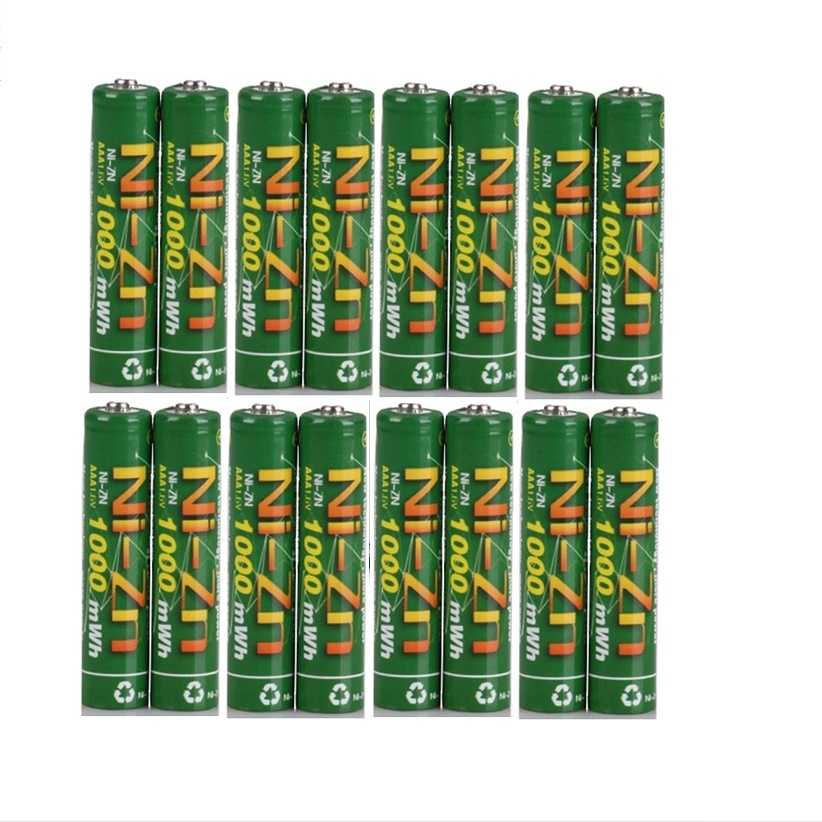16Pcs 1000MWH NiZn 1 6V AAA Rechargeable Battery batteries