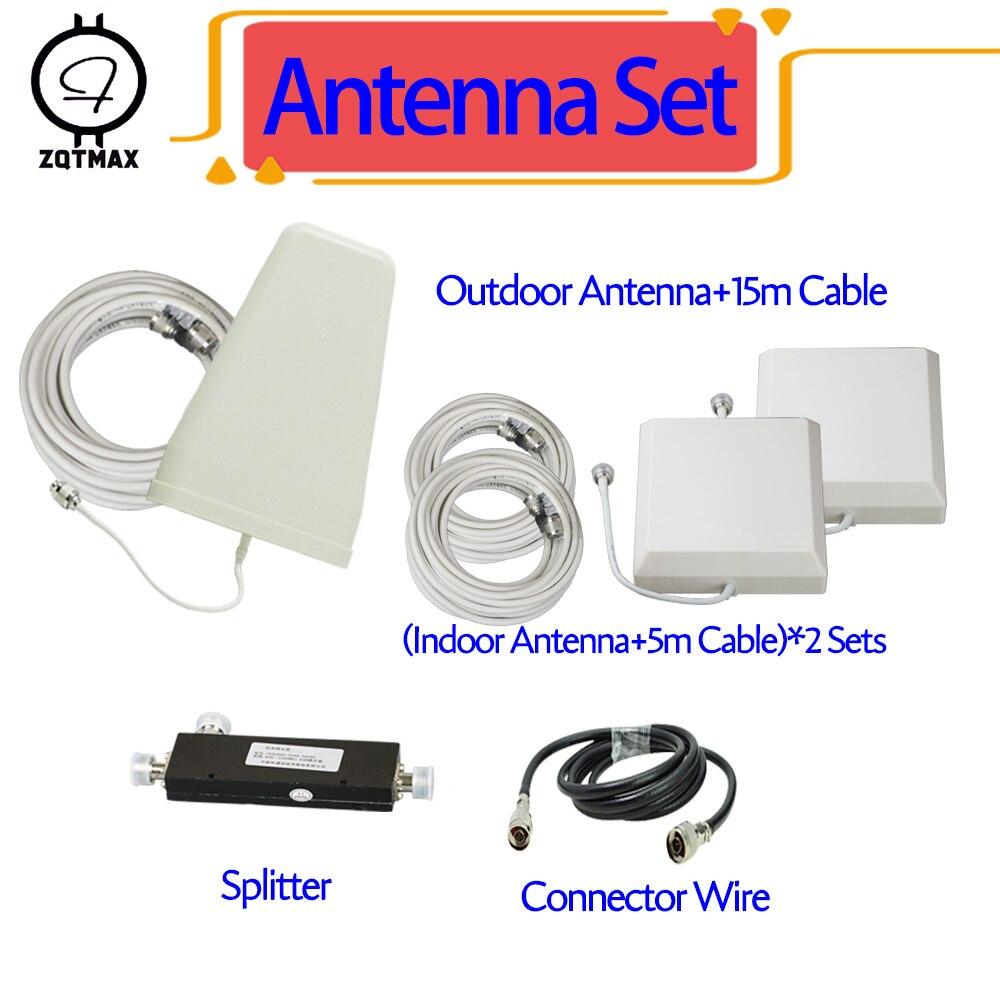 Antenne de booster de signal mobile ZQTMAX pour répéteur gsm 3g amplificateur de signal 3g 4g lte 4g 2600 dcs 1800 répéteur 2100 UMTS
