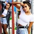 2016 Новый Короткими Рукавами Топы Sexy Women Основная Тис Обрезанные Топы Мода Тонкий Марка Место Топы Корсет Клубная Одежда Blusa #5