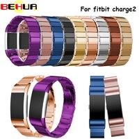 9 cores de Aço Inoxidável Watch Band Para Fitbit Carga 2 acessório de Pulso Pulseira Pulseira Inteligente Pulseira Para Fitbit charge2