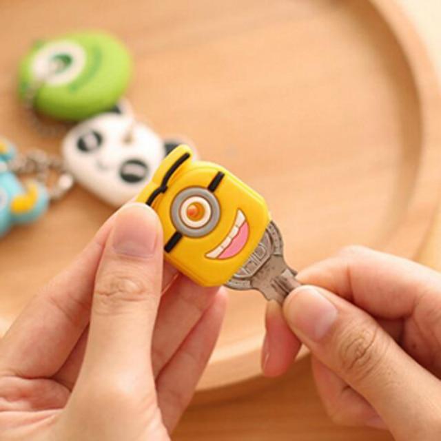 Cute 10pcs/lot Cartoon Key Holder Plastic Creative Portable Phone Key Bag Keychain Deacoration Children Kid Gifts Prize