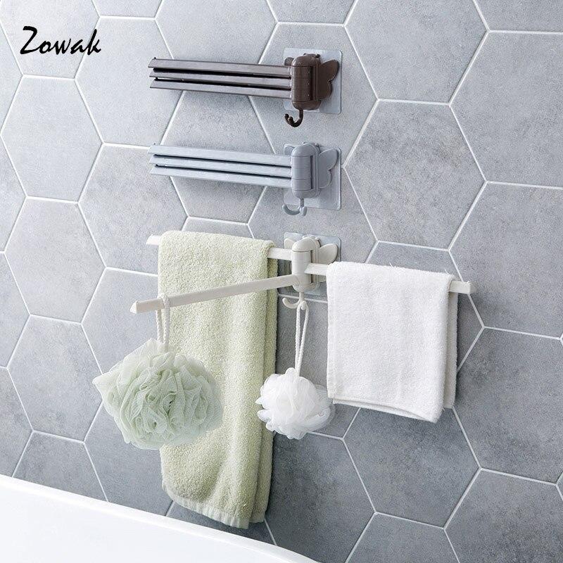 1pc Bathroom Swing Arm Towel Bars Wall Mount Folding