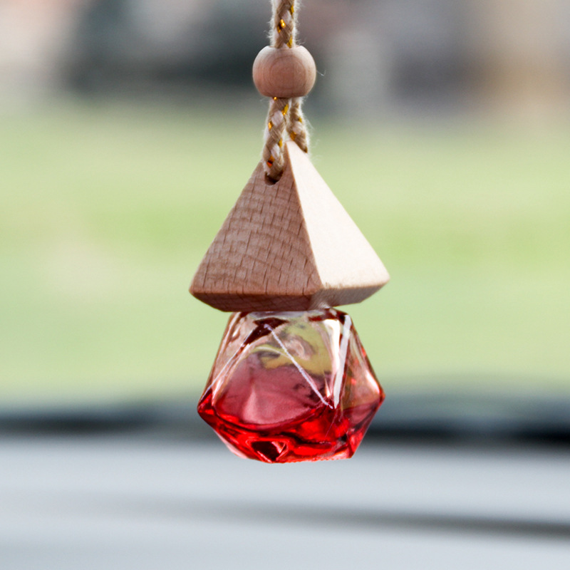 f24d98f59c842 Ornamentos requintados Carro Espelho Retrovisor Do Carro Ambientador Carro  Perfume Garrafas Vazias de Cor