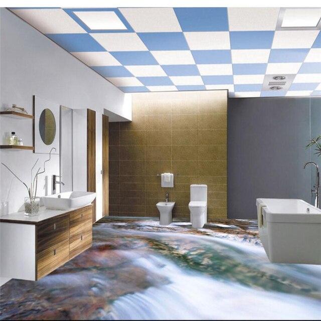 Präferenz Beibehang Nach Bodenbelag 3d Foto Dekorative Malerei 3D Bad Kleine TH61