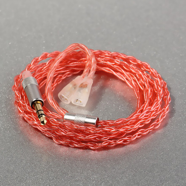 Hot Sales 1.2m 5N OCC Single crystal silver plated copper Earphone Cable Headset Line for Sennheise pin series (IE8/IE80 etc.)