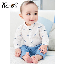 Kimocat Baby Boy Clothes 100% Cotton Newborn Infant Clothing 2PCS Long Sleeve T-shirt+Pants Autumn Winter Roupa Infantil Menino