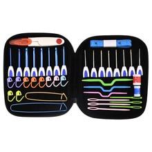 16pcs Crochet Hook Set 1.0-6.0mm Aluminum Needles With Bag Sweater Weave Knitting DIY Craft Sewing Tools