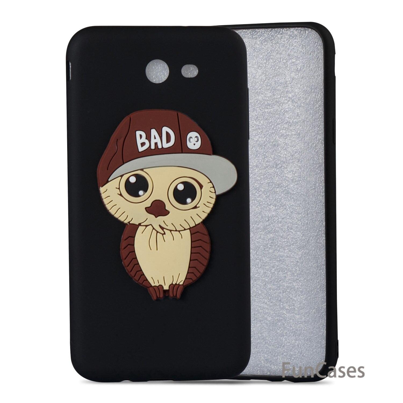 3D Owl Case sFor Estojo Samsung J7 2017 US Version Soft Silicone Phone Case Csse Patterned Case Samsung Galaxy J720 US Version