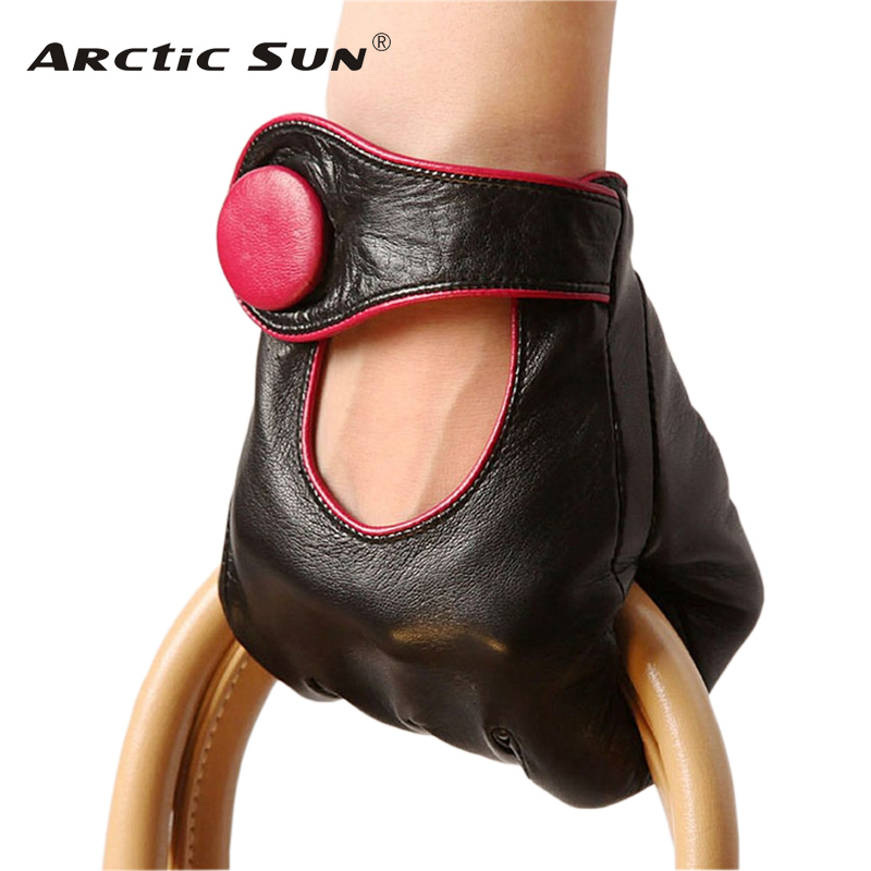 Sale Fashion Women Sheepskin Gloves 2019 NEW Genuine Leather High Quality Elegant Lady Five Fingers Driving Glove EL028NN-in Women's Gloves from Apparel Accessories