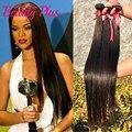 Rihanna Estilo Peruano Reta Cabelo Virgem, Qualidade Superior Cabelo Liso Peruano Tece Comprimento Mista 8''-30''3Pcs Lote ou 4 Pacotes